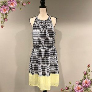 MAKE AN OFFER ;)Navy blue and white striped dress.